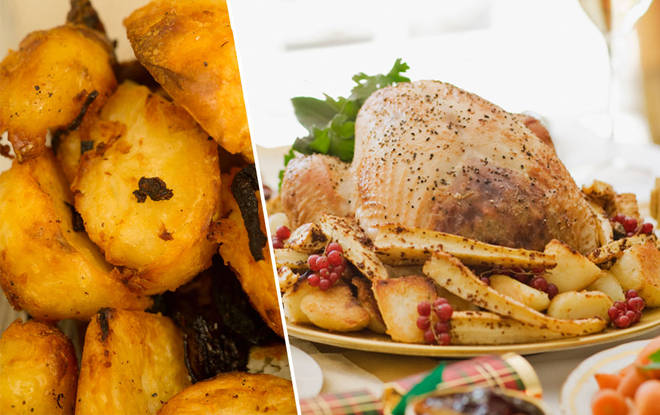 Roast potatoes are the best rated part of a Christmas dinner
