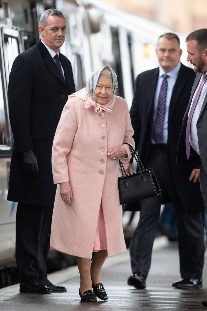 The Queen arrived in Sandringham today for the Christmas period