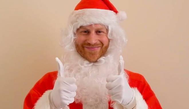 Prince Harry dressed as Santa