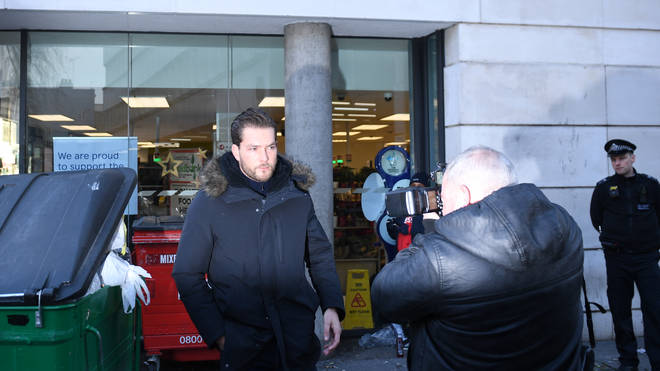 Lewis Burton also arrived at court in North London