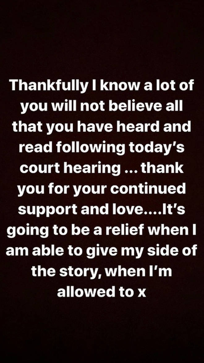Caroline Flack shared an emotional message following her court hearing