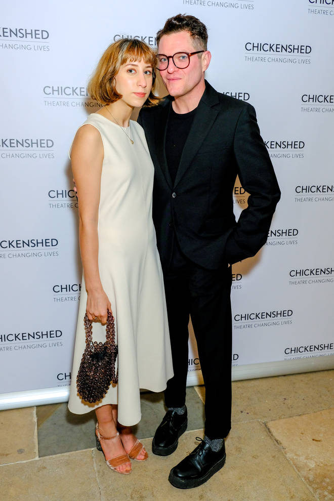 Mathew Horne cosies up to girlfriend Celina at a fundraiser in London.