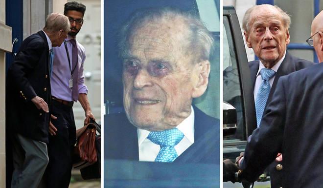 The Duke of Edinburgh was released from hospital