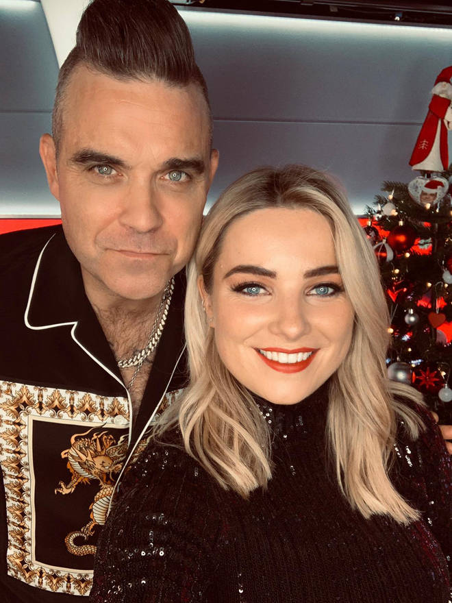 Robbie with Sian in the studio