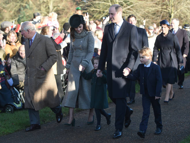 Kate and William bought their eldest children, George and Charlotte, to the traditional Christmas Day mass