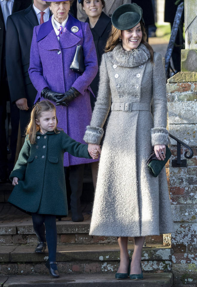 Princess Charlotte looked ecstatic to join her mum at church in Sandringham