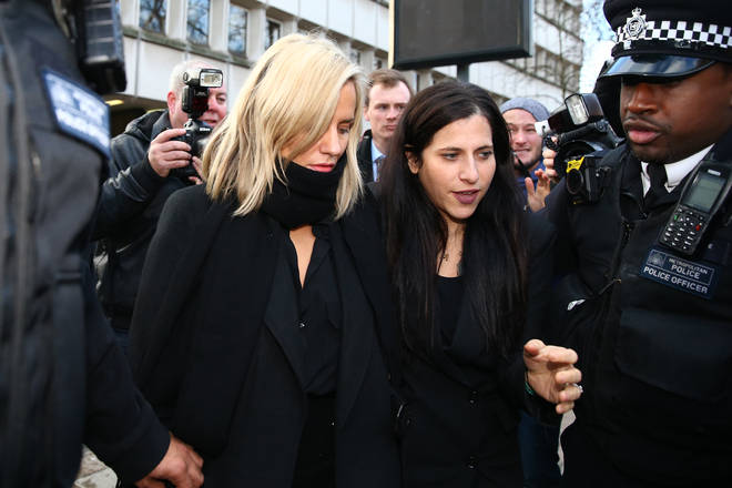 Caroline Flack arrives at court on December 23 to be charged with assault
