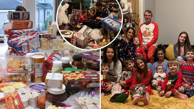The Radford Family revealed their massive Christmas food shop on YouTube.