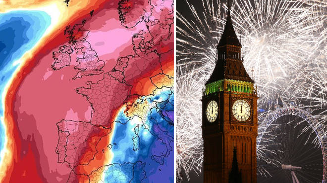 The UK is set for the warmest New Year's Eve in 178 years.