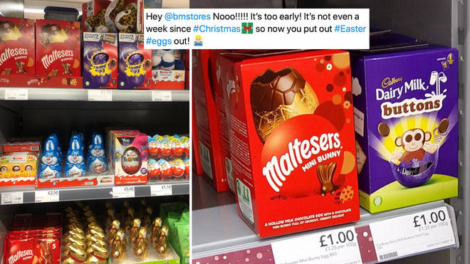 Easter eggs already on sale in supermarkets just days after Christmas.