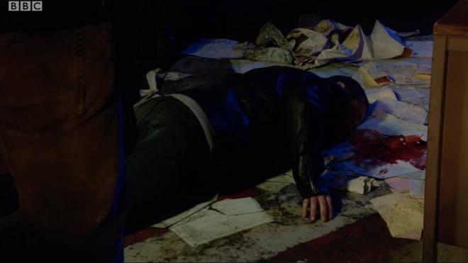 Keanu was shot in the shoulder