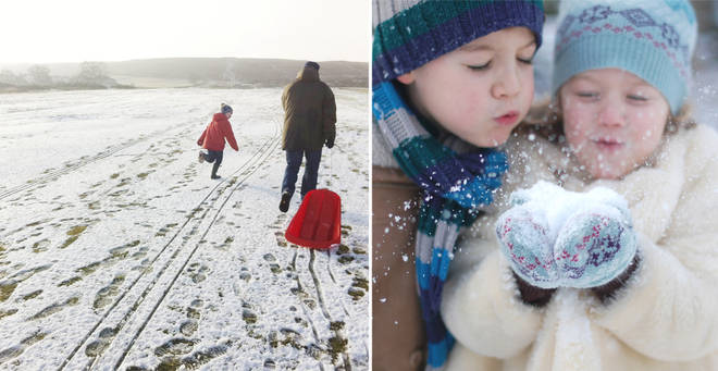 Snow is expected across the UK later this month (stock images)