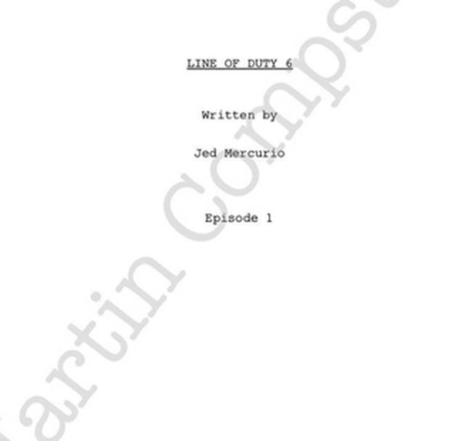 Martin Compson teased a photo of the new script