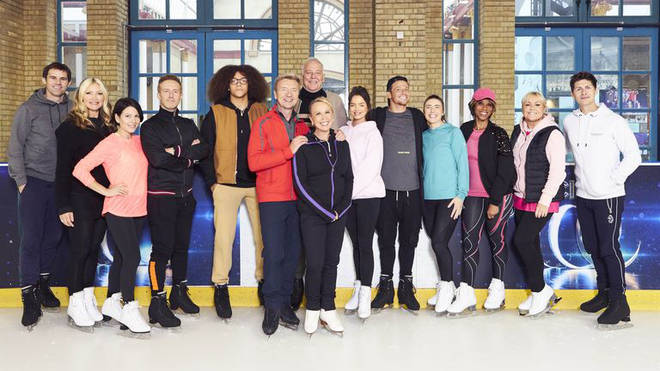The Dancing On Ice cast film a live show every Sunday