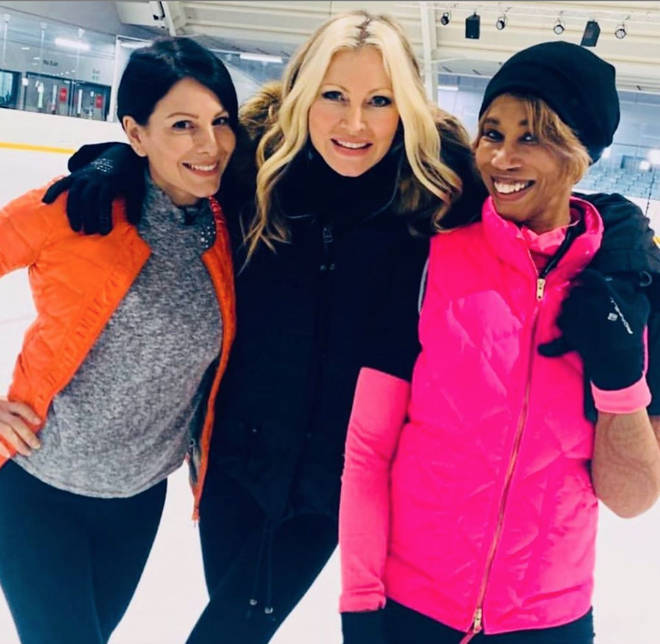 The DOI celebrities rehearse at different ice rinks around the country