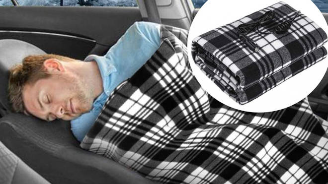 You can now buy heated blankets that plug into your car for snug journeys.