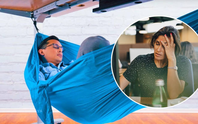 The under desk hammock will transform they way you nap