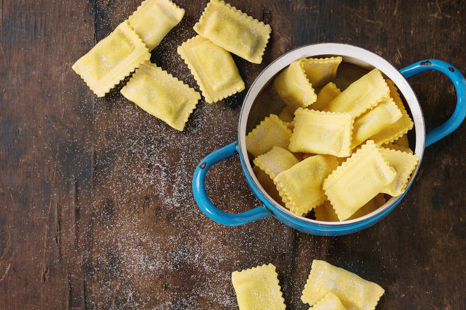 Classic ingredients for fresh pasta include flour, eggs, water, and salt.