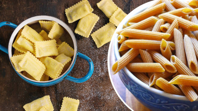 Most packaged pasta—including spaghetti, linguine and ravioli—is plant-based.