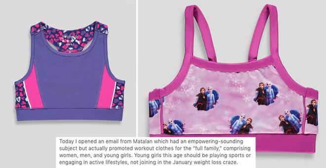 Matalan has been slammed for selling children's crop tops