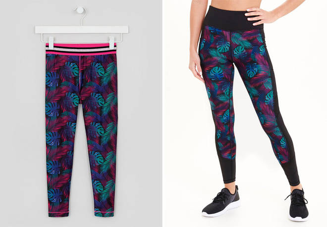 Mothers and daughters can wear matching leggings