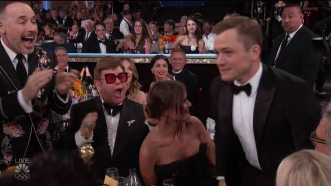 Elton was overjoyed with the win