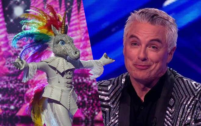 John seemed to reveal he was the unicorn on The Masked Singer