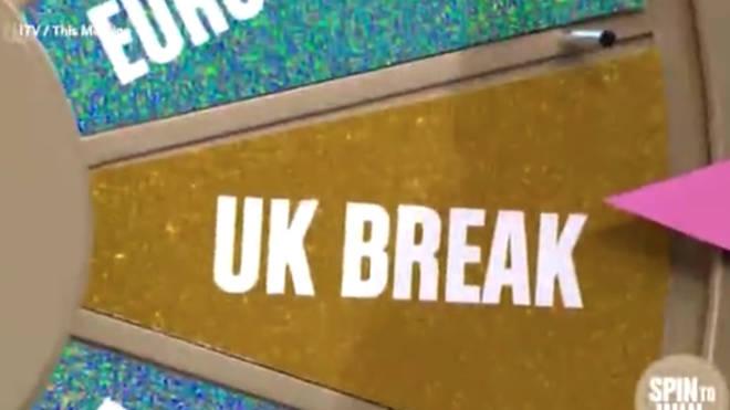The wheel ended up on 'UK break' twice