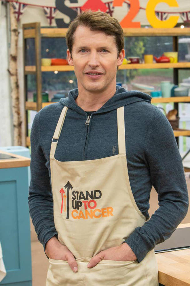 Singer James Blunt will be in the famous tent
