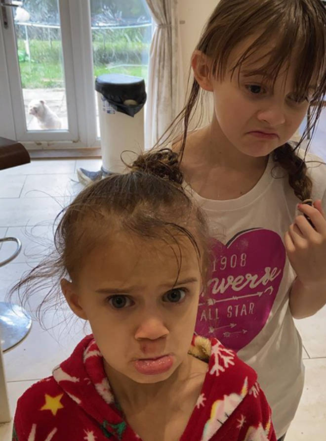 Kerry Katona's daughters Heidi and DJ missed their first day back to school because of the incident