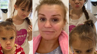 Kerry Katona left furious after son Max, 11, puts super glue in her daughters' hair