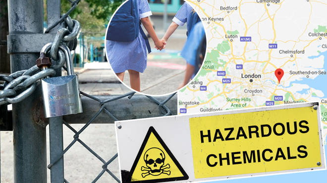 Chemical leak containing hydrochloric acid forces Essex schools to shut