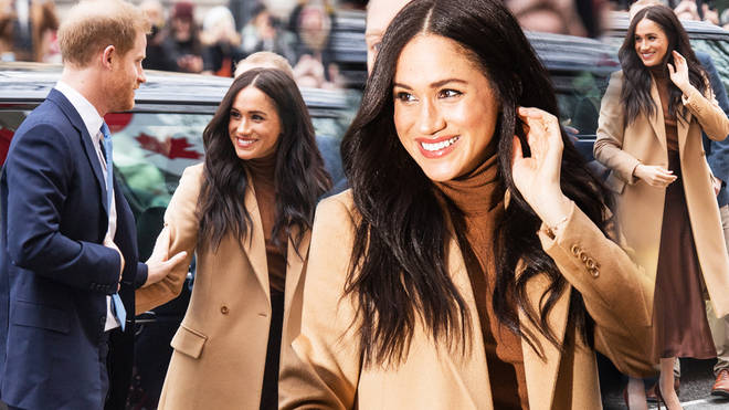Meghan Markle and Prince Harry are all smiles as they make their first royal outing following six week break