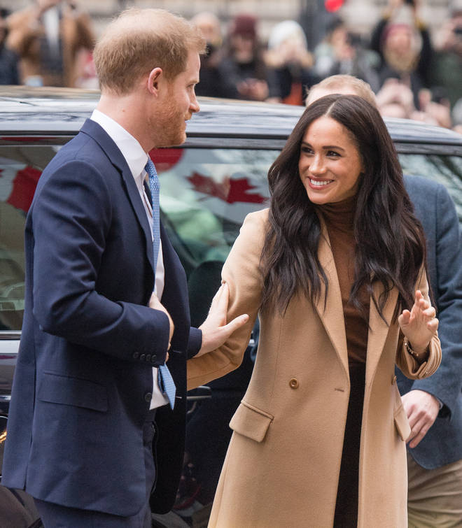 Meghan Markle and Prince Harry looked well-rested and happy as they arrived at Canada House