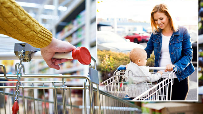 Mum left furious as woman tells her it is 'illegal' to put her children in supermarket trolley