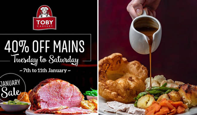Toby Carvery are offering the deal to users of the official Toby Carvery app