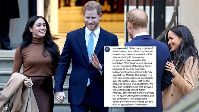 Prince Harry and Meghan Markle announced their decision on Wednesday evening.