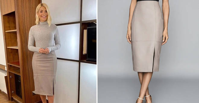 Holly Willoughby's leather skirt is £265