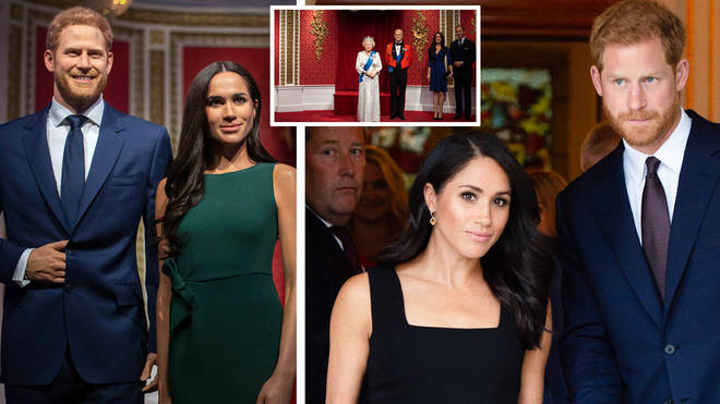 Prince Harry and Meghan Markle have been removed from Madame Tussauds' royal section