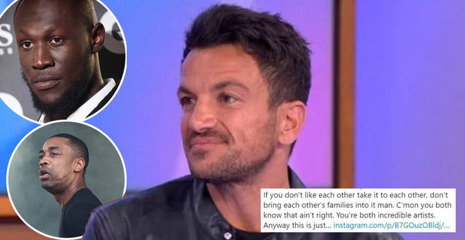 Peter Andre has come under fire