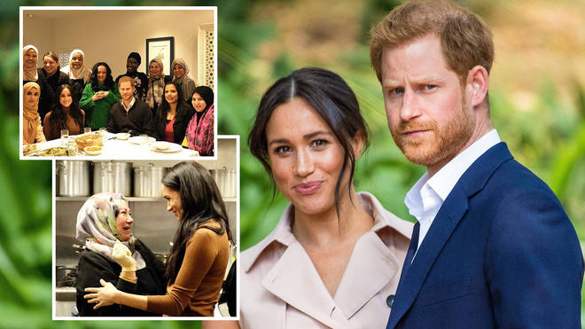Meghan and Harry have appeared to ignore the media circus around their announcement