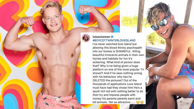 Social media users have demanded Ollie Williams is axed from the Love Island line-up.