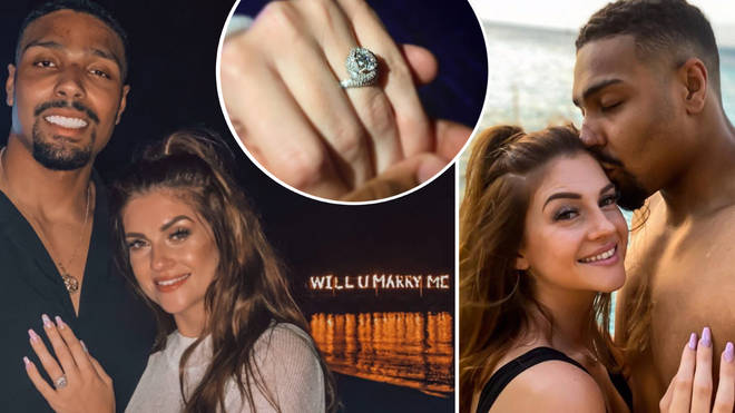 The proud dad-of-two popped the question in paradise.