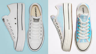 Converse is selling a wedding collection for brides and grooms.