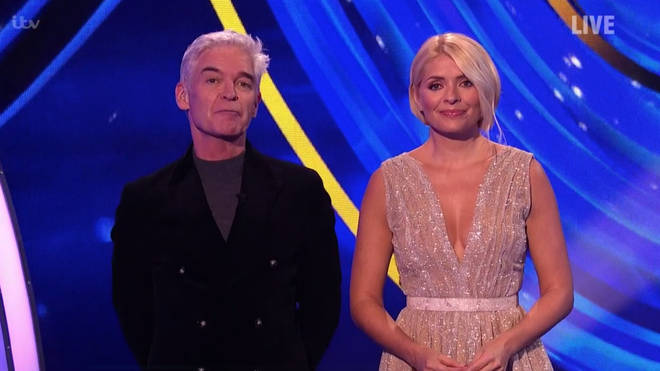 Holly Willoughby looked incredible in a glittery silver gown
