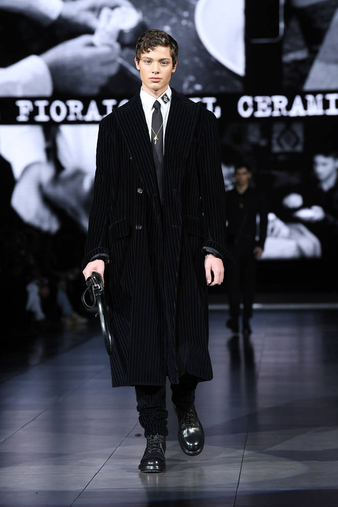 Bobby Brazier made his catwalk debut
