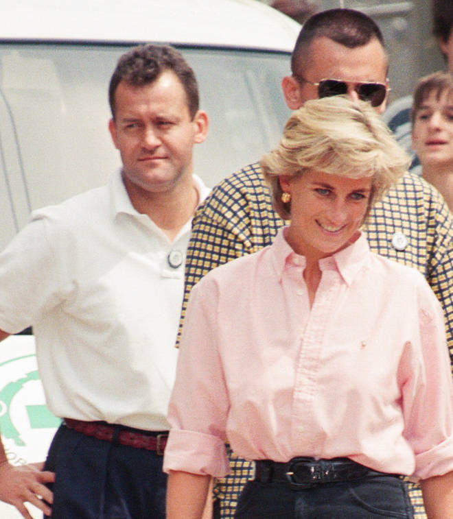 Paul Burrell pictured with the late Princess Diana