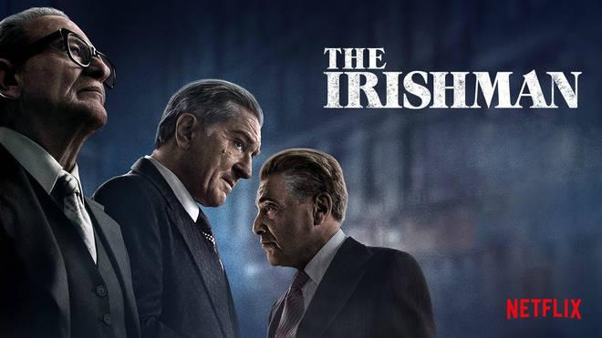 The Irishman, starring Al Pacino and Robert DeNiro, has been nominated for best picture