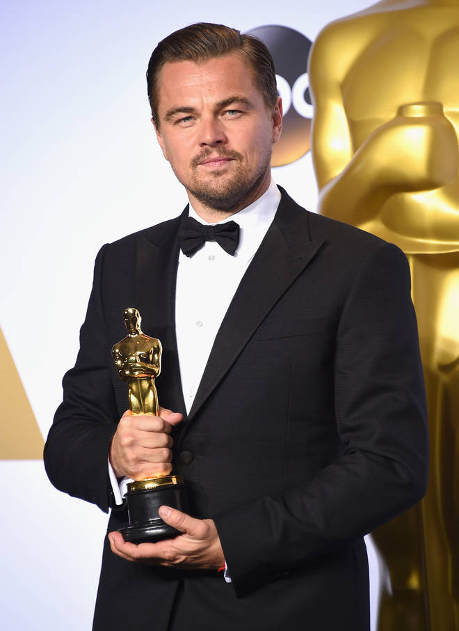 Leonardo DiCaprio is up for best actor in a leading role this year