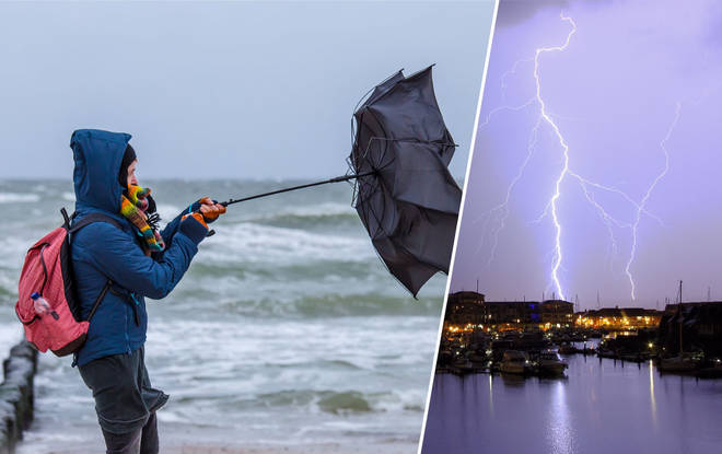 The stormy weather is set to blast the UK over the next two days